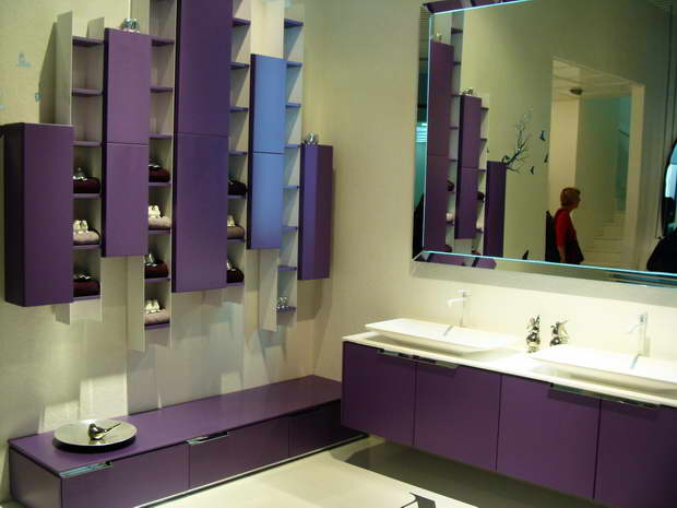 purple bathroom themes,purple bathroom decor ideas,colorful interior design,bathroom design,design trends,