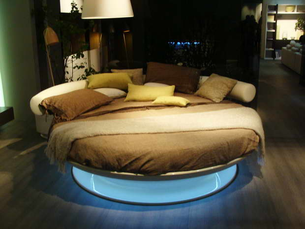 round bed design images,bedroom decor ideas,beds with integrated lighting,