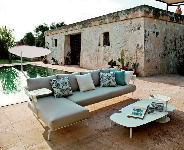 outdoor designer furniture,contemporary garden sofa,blue green sofa pillows,outdoor coffee table ideas,garden ideas with a pool,