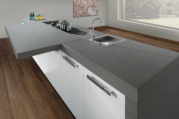 innovative kochinsel der h cker k chen moving table. Black Bedroom Furniture Sets. Home Design Ideas